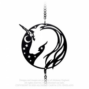 Alchemy Gothic Night Unicorn Hanging Decoration - Kate's Clothing
