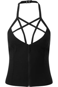 Killstar Rockoholic Halter Top - Kate's Clothing