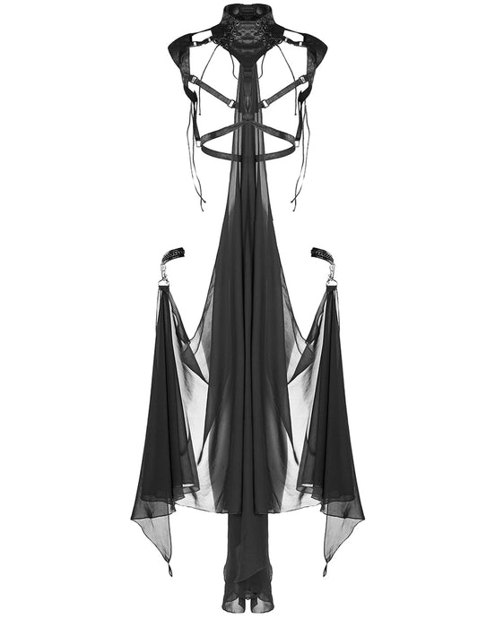 Punk Rave Maiden Harness with Detachable Cape