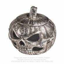 Load image into Gallery viewer, Alchemy Gothic Pumpkin Skull Pot - Kate's Clothing