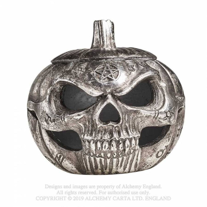 Alchemy Gothic Pumpkin Skull Pot - Kate's Clothing