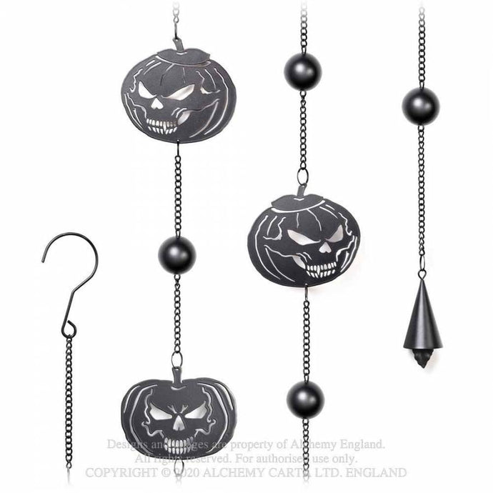 Alchemy Gothic Pumpkin Skull Hanging Decoration - Kate's Clothing