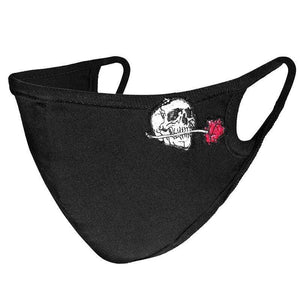 Punk Rave Skull & Rose Face Mask - Kate's Clothing