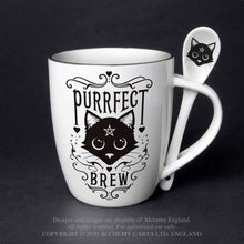 Load image into Gallery viewer, Alchemy Gothic Purrfect Brew: Mug and Spoon Set