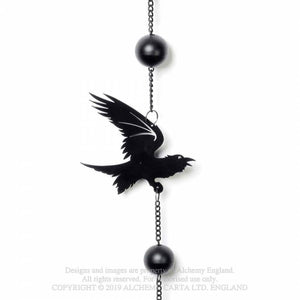 Alchemy Gothic Raven Hanging Decoration - Kate's Clothing