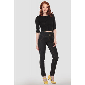 Collectif Plus Size Rebel Kate Black Denim Jeans - Kate's Clothing
