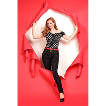 Load image into Gallery viewer, Collectif Plus Size Rebel Kate Black Denim Jeans - Kate's Clothing