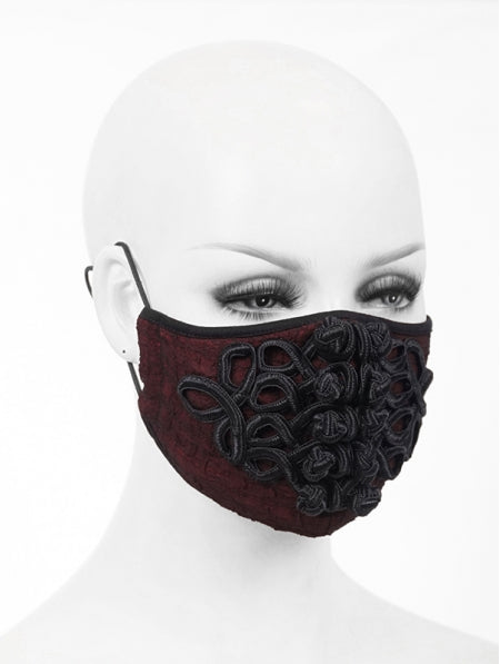 Devil Fashion Chinese Applique Face Mask With Filter - Kate's Clothing