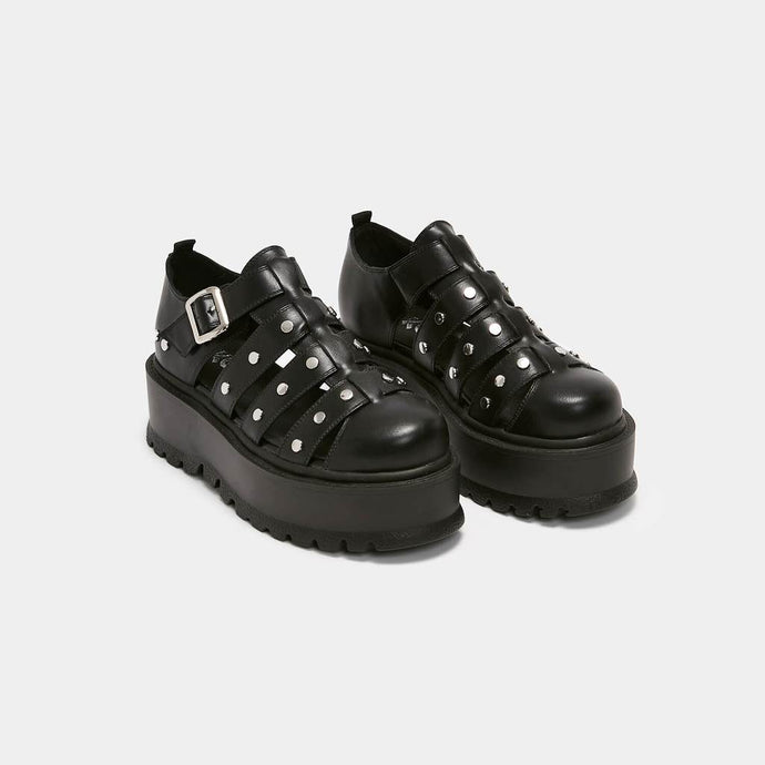 Koi Relay Studded Black Army Sandals