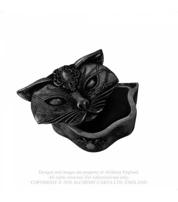 Alchemy Gothic Sacred Cat Trinket Box - Black - Kate's Clothing