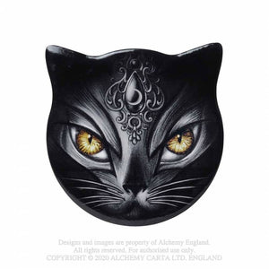 Alchemy Gothic Sacred Cat Coaster - Kate's Clothing