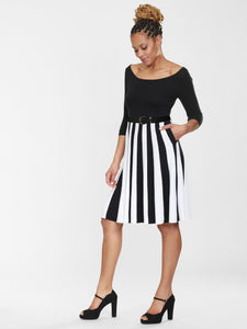 Collectif Serena Knitted Striped Dress - Kate's Clothing