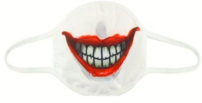 Gothic Gifts Reusable Adult Face Mask - Smiling Face - Kate's Clothing