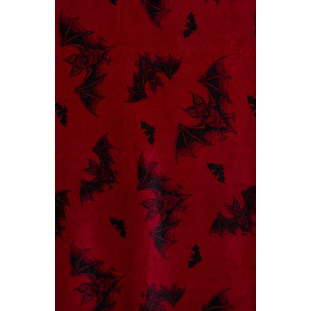 Sourpuss Red Bat Attack Blanket - Kate's Clothing