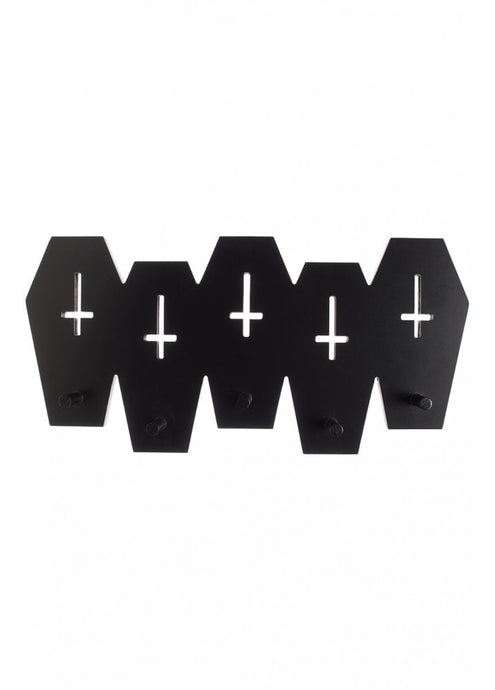 Sourpuss Coffin Wall Hook Rack