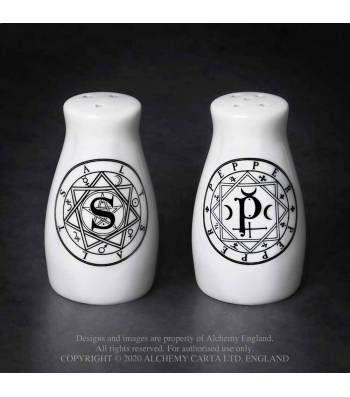Alchemy Gothic Magic Circles Salt & Pepper Set - Kate's Clothing