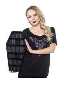 Sourpuss Curio Coffin Shelf - Kate's Clothing