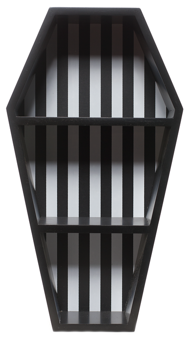 Sourpuss Striped Coffin Wall Shelf