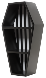 Sourpuss Striped Coffin Wall Shelf - Kate's Clothing