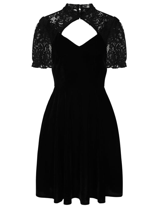 Collectif Stacey Velvet Skater Dress - Kate's Clothing