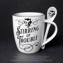 Load image into Gallery viewer, Alchemy Gothic Stirring up Trouble: Mug and Spoon Set - Kate's Clothing