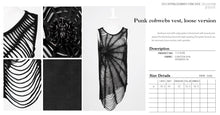 Load image into Gallery viewer, Punk Rave Spiderweb Vest Top
