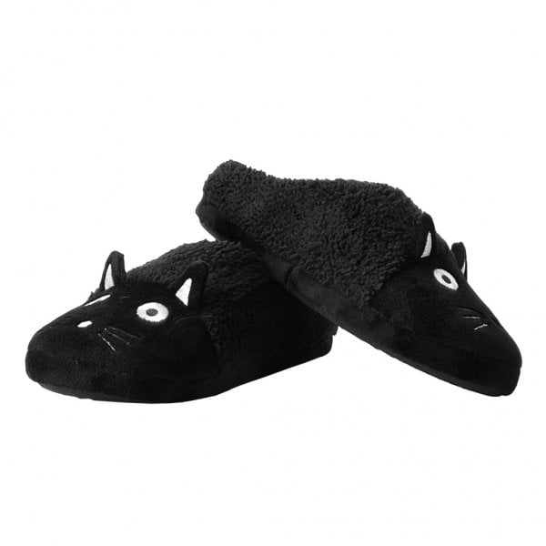 T.U.K Black Kitty Slipper