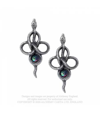 Alchemy Gothic Tercia Serpent Earrings - Kate's Clothing