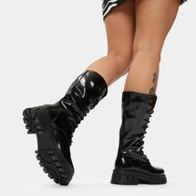 Load image into Gallery viewer, Koi Trinity Black Calf Length Boots - Kate's Clothing