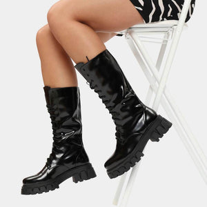 Koi Trinity Black Calf Length Boots - Kate's Clothing