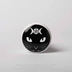 Alchemy Gothic Bottle Stopper - Triple Moon Cat - Kate's Clothing
