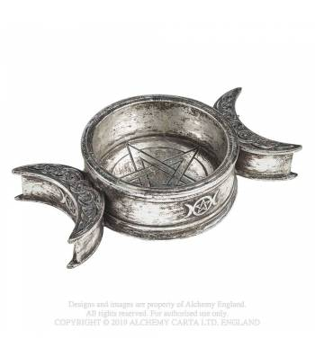 Alchemy Gothic Triple Moon Trinket Dish/Candle Holder - Kate's Clothing