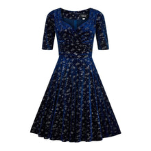Load image into Gallery viewer, Collectif Plus Size Trixie Velvet Sparkle Doll Dress - Kate's Clothing