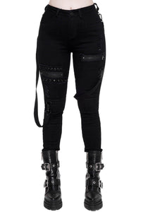 Killstar Spiked Jeans - Kate's Clothing