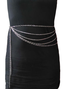 Gothic Attitude Multi Layer Chain Belt. - Kate's Clothing