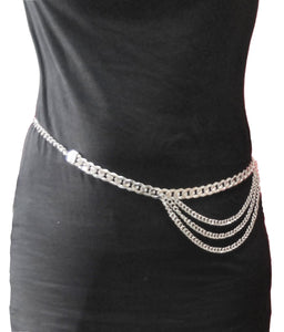 Gothic Attitude Layered Chain Belt - Kate's Clothing