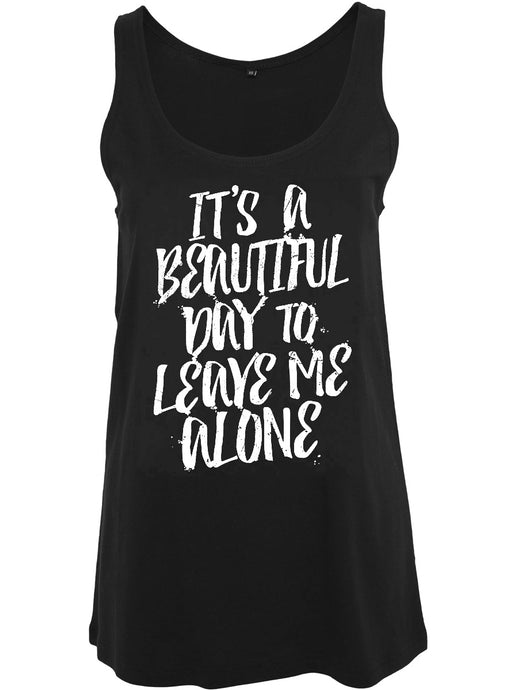 It's A Beautiful Day Black Floaty Vest - Kate's Clothing