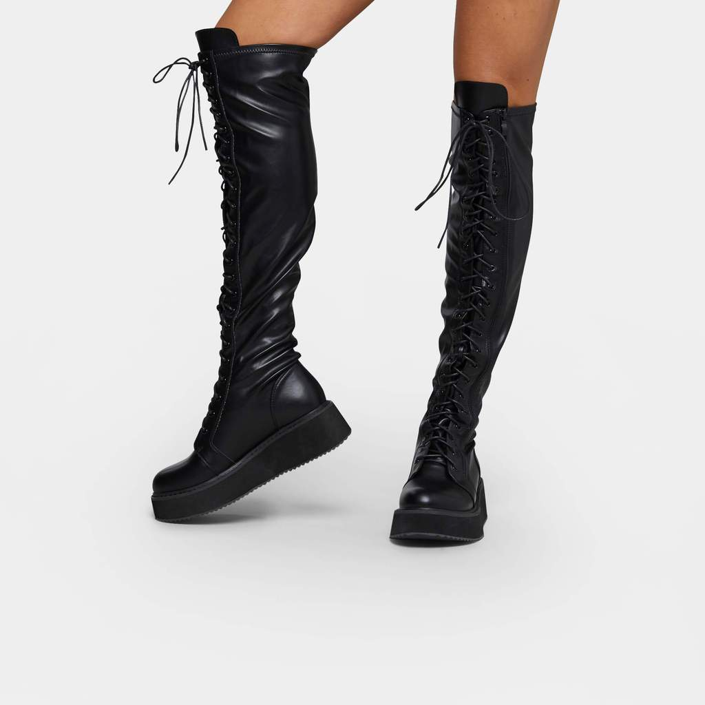 Koi Blade Lace Up Boots - Kate's Clothing