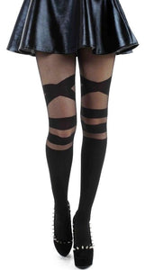 Pamela Mann Sheer Strap Tights - Kate's Clothing