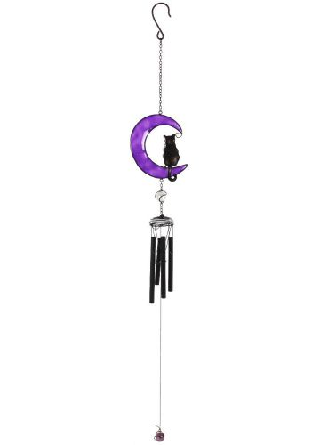 Gothic Gifts Black Cat Windchime - Kate's Clothing