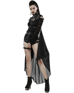 Punk Rave Maiden Harness with Detachable Cape - Kate's Clothing