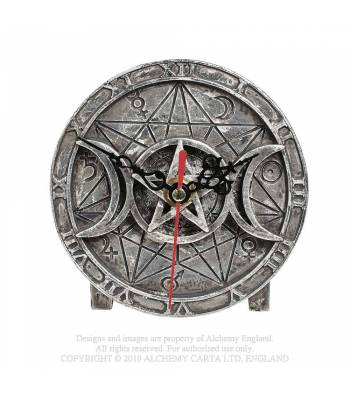 Alchemy Gothic Wiccan Desk Clock - Kate's Clothing