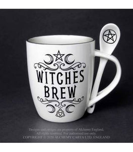 Alchemy Gothic Witches Brew: Mug and Spoon Set