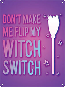 Witch Switch Mini Tin Sign - Kate's Clothing