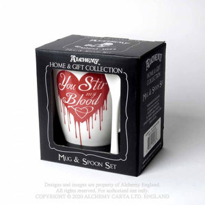 Alchemy Gothic You Stir My Blood Mug and Spoon Set - Kate's Clothing