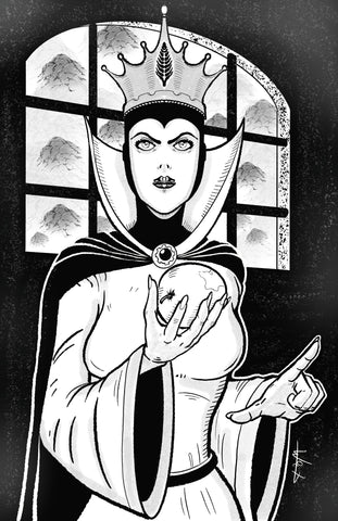 Evil Queen with apple 11x17 print
