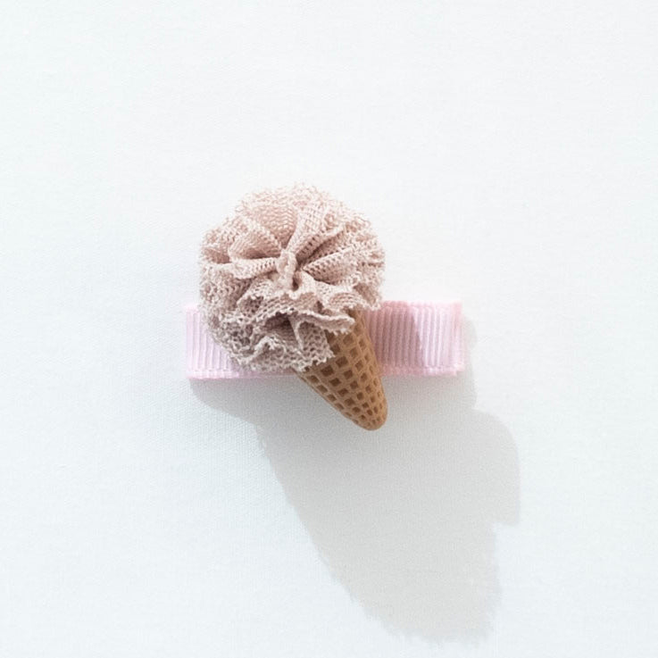 Ice Cream Hair Clip - Beige
