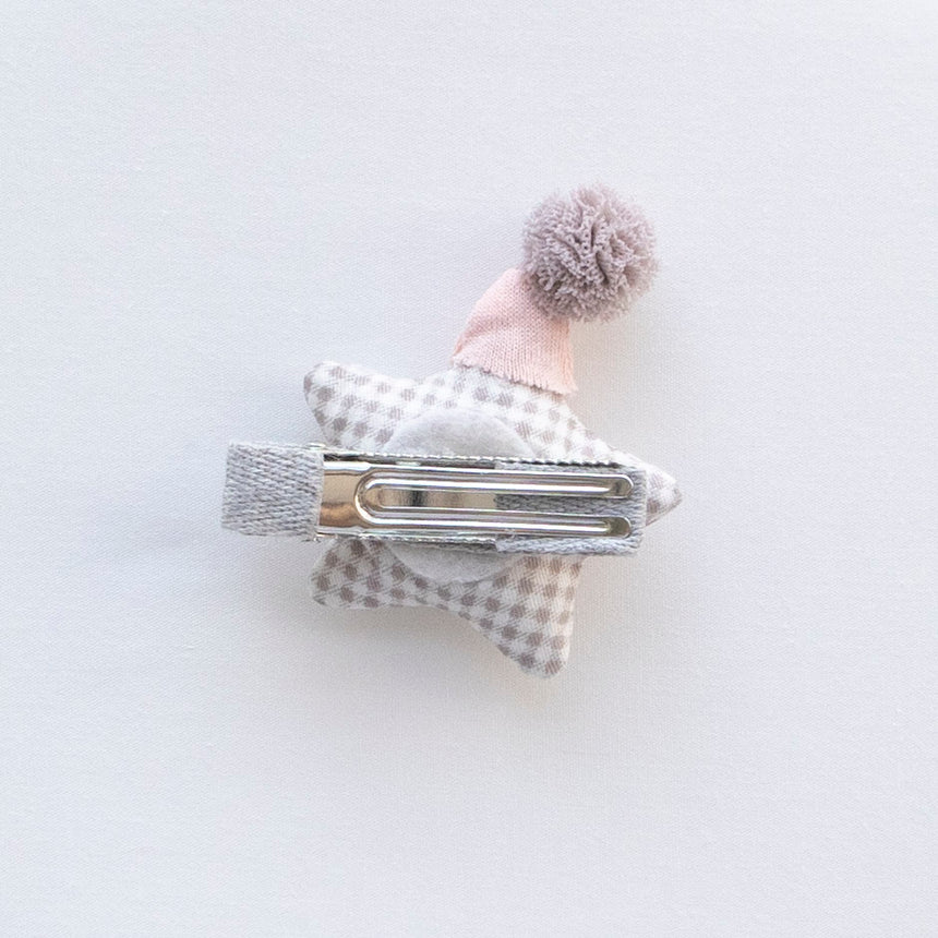 Sleepy Star Hair Clip - Grey