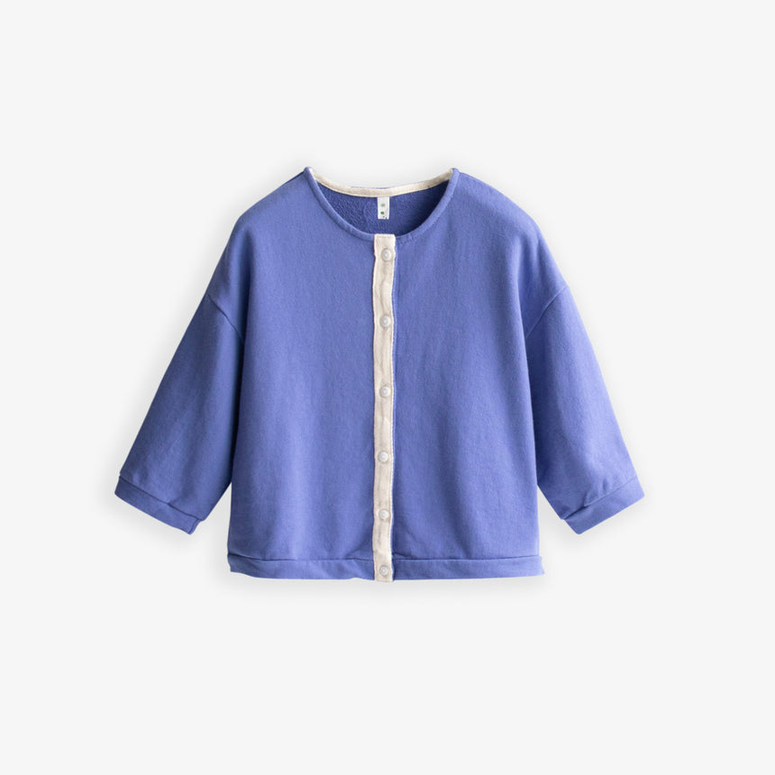 Banding Button Cardigan - Blue