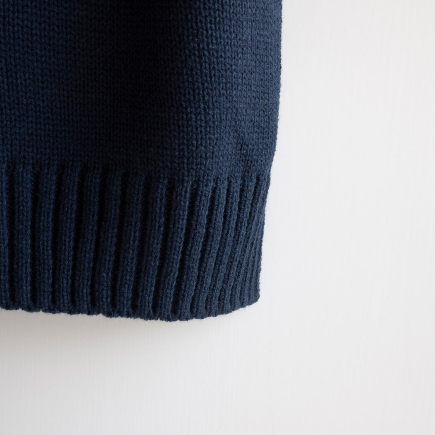 Rami Knit Vest-Midnight Blue
